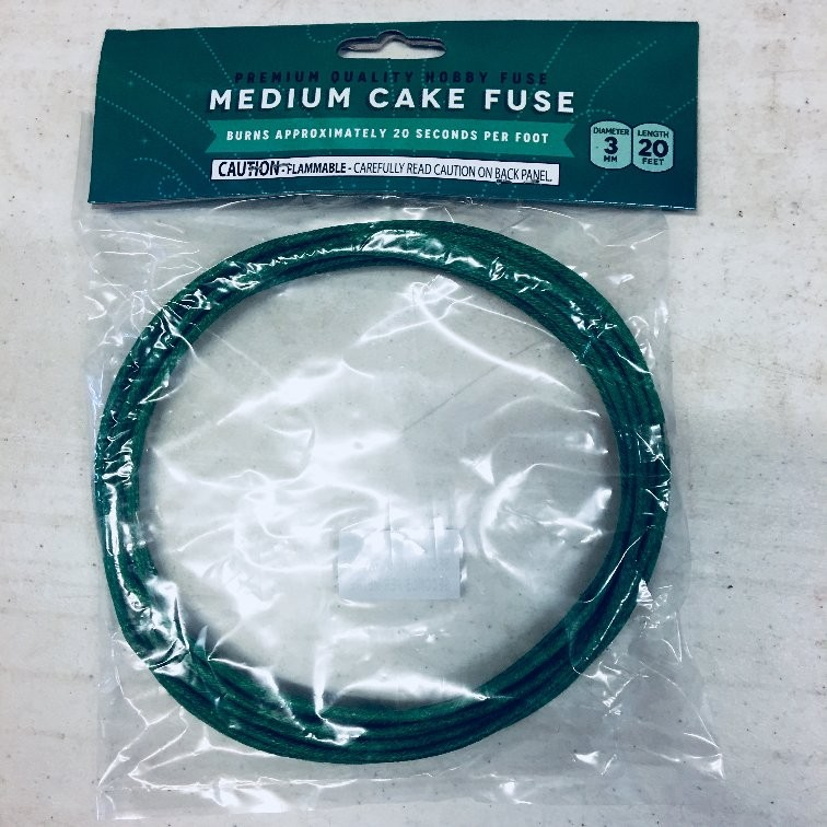 Cake Fuse 3.0mm - Medium Speed - 20 seconds per foot - 20' Roll