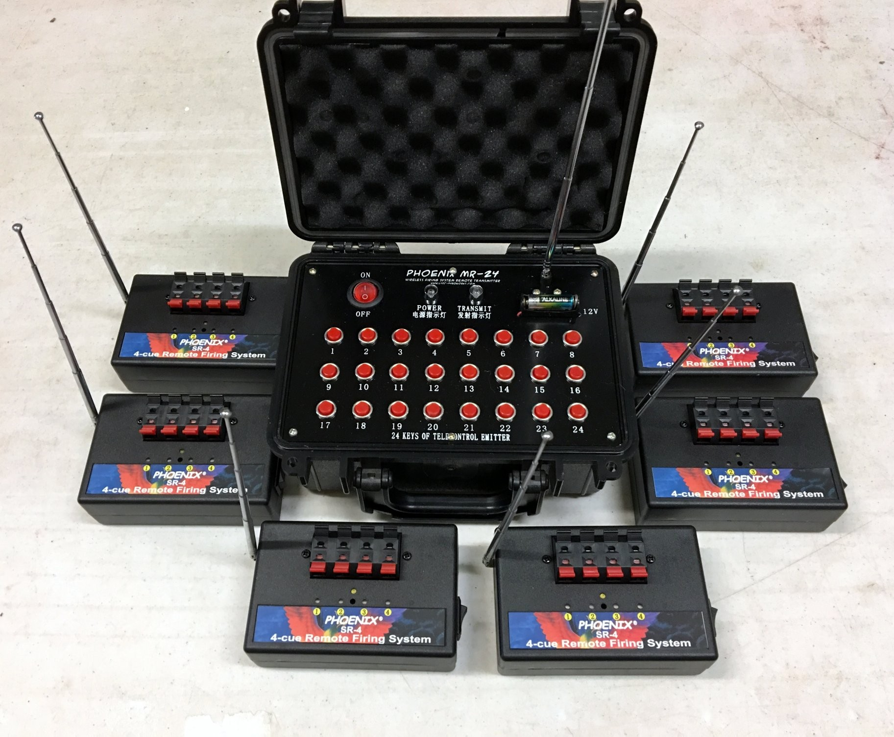SR-24-4 Distributed System with 4-cue Receivers - 6 Zones